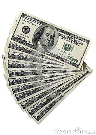 Pak van 100 dollarsrekeningen