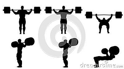 Pak zwarte silhouetten van bodybuilders Alpha Channel Alpha- steen 4K stock videobeelden