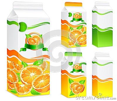 Pakete für Orangensaft