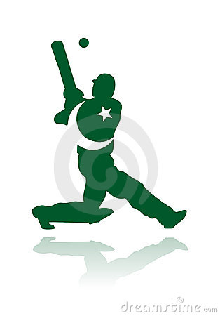 Pakistan cricket player in action