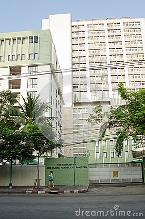 Pakistan Embassy, Bangkok Editorial Stock Photo