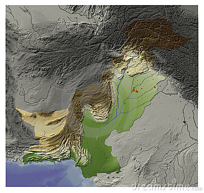 Pakistan, relief map