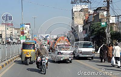 Pakistan road Editorial Photo