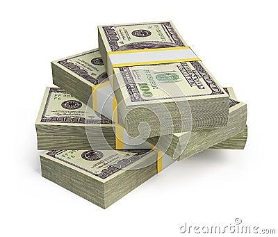 Pakjes van dollars