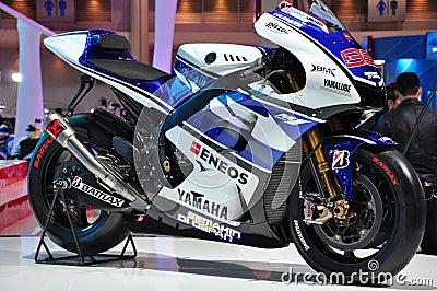Yamaha M1 YZR presented at Bangkok International M Editorial Stock Photo