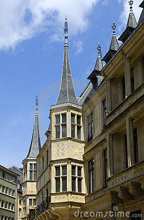 Palácio Ducal grande em Luxembourg