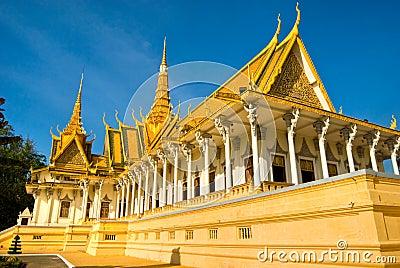 Palácio real em Pnom Penh, Cambodia.