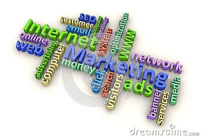 Palabras de la comercialización del Internet (color)