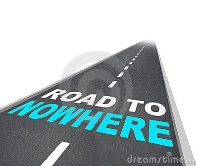 Palabras del camino en ninguna parte - en autopista sin peaje