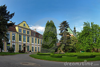 Palace Abbots with the Cathedral in Oliwa