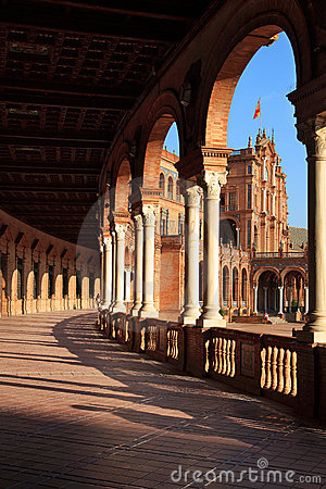 Palace arcade on the Spain`s Square