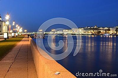 The  Palace bridge at white nights