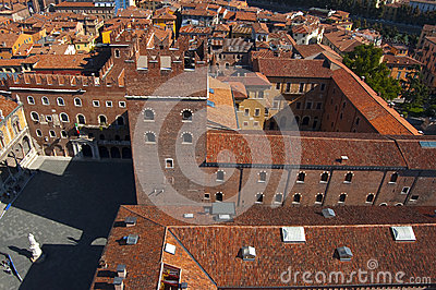 View from Lamberti Tower - Verona Italy