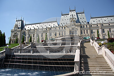 Palace of Culture in Iasi (Romania) Editorial Stock Photo