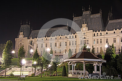 Palace of Culture in Iasi (Romania) at night
