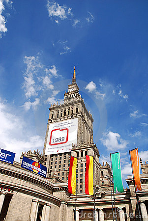 Palace of Culture and Science in Warsaw Editorial Image