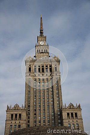 Palace of Culture and Science in Warsaw (Poland)