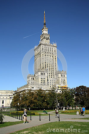 Palace of Culture and Science in Warsaw (Poland) Editorial Photo