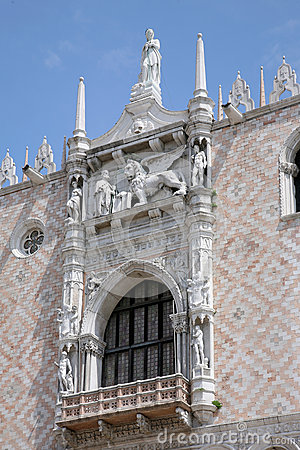 Palace Ducal - detail lion, Venice