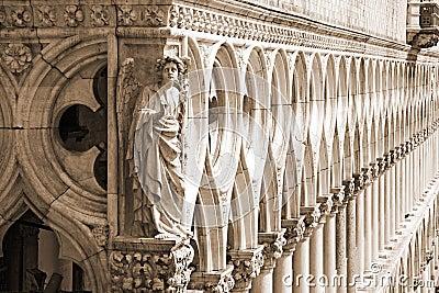 Palace Ducal - detail ( sepia ), Venice