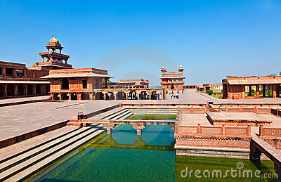 Palace of Fatehpur Sikri, India.
