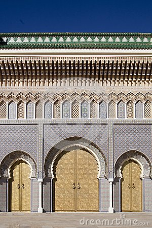 Palace in Fez in Marocco
