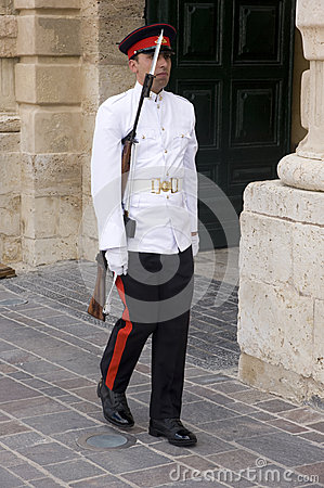 Palace Guard, Malta. Editorial Stock Photo