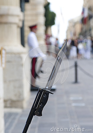 Palace Guards bayonet Malta