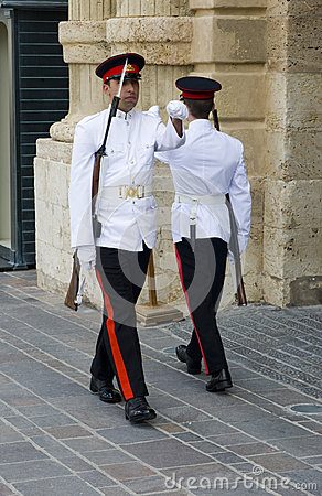 Palace Guards, Malta. Editorial Stock Photo