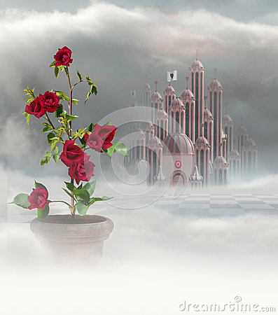 Palace of hearts and roses Stock Photo