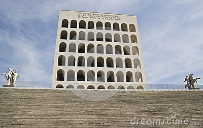 Palace of Italian Civilization in Eur, Rome Editorial Photo
