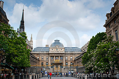 Palace of Justice and Holy Chapel church Editorial Stock Image