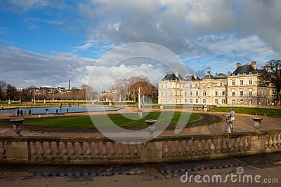 Palace in Luxembourg Park in Paris
