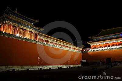 Palace Meridian Gate dusk