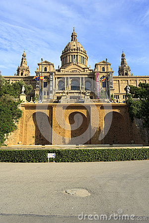 Palace of Montjuic, Barcelona Editorial Photography
