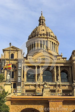 Palace of Montjuic, Barcelona Editorial Stock Image