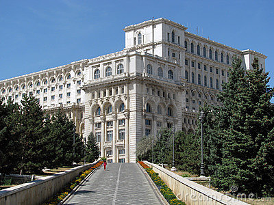 Palace of the Parliament (Bucharest, Romania) Editorial Stock Image