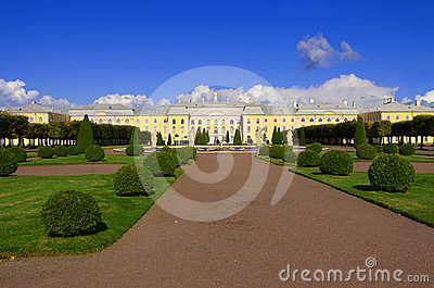 Palace in Peterhof, Saint-Petersburg