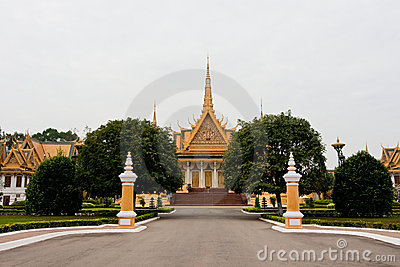 The palace in Phnom Penh