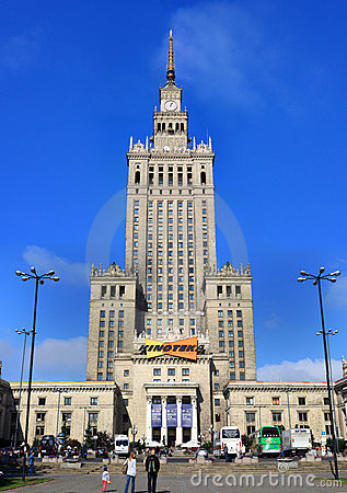 Palace of science and culture in Warsaw Editorial Stock Photo