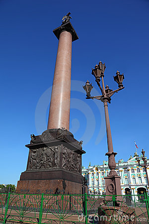 Palace Square, Alexandrian post. Saint-Petersburg