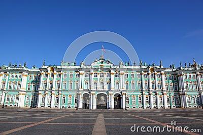 Palace Square, Hermitage museum. Saint-Petersburg
