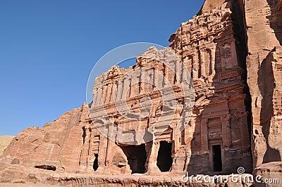 Palace tombs in Petra Jordan