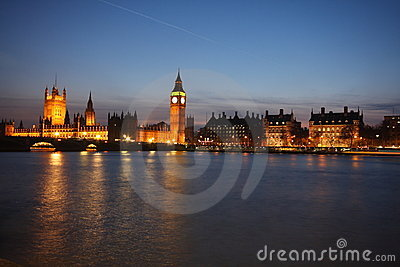 Palace of Westminster at twilight