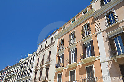 Palaces in Bari Oldtown. Apulia.