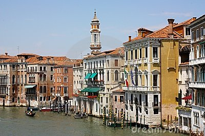 Palaces in the Canal Grande, Venice, Italy