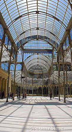 Palacio de Cristal, Madrid Editorial Photography