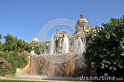 Palacio nacional en Barcelona