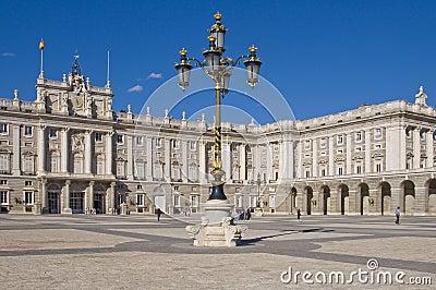 Palacio verdadero en Madrid