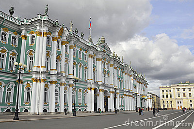 Palais de l hiver, musée d ermitage à St Petersburg Image stock éditorial